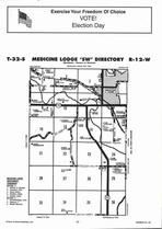 Medicine Lodge Township - Southwest, Directory Map, Barber County 2006